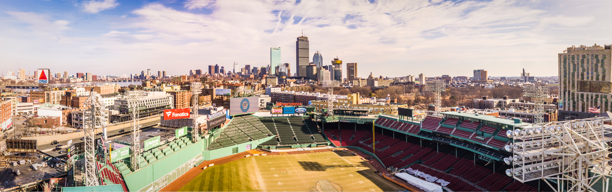 Aerial Shot of Fenway Park